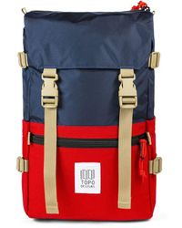 Topo - Rover Pack Backpack Navy/red - Lyst