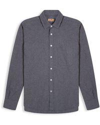 Burrows and Hare Micro-check Shirt - Grey
