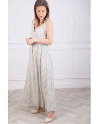 Swildens Daria Strappy Dress In Ecru - Multicolour