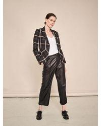 Mos Mosh Como Leather Trouser - Black