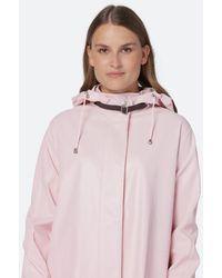 Ilse Jacobsen Light A-line Raincoat - Lavender - Pink