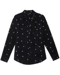 Rails Kate Shirt Noir Animal Stars - Black