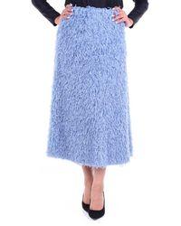 L'Autre Chose Skirts Midi Sky - Blue