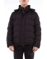 Paul & Shark Paul & Shark 700 Fill Power Short Quilted Down Jacket With Hood - Black