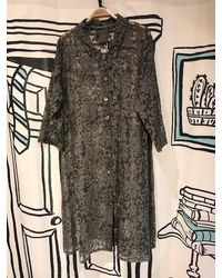 Out Of Xile Vintage Sheer Flare Coat In Grey