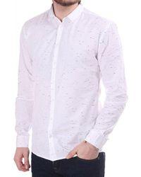 Minimum Feroz Ls Shirt With Flecked Pattern - White