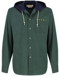 Marni Hooded Shirt - Green