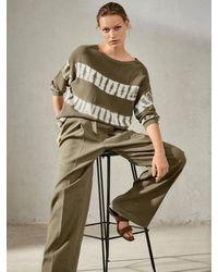 Luisa Cerano Khaki Tie-dye Sweater 138881/5866 3521 - Green