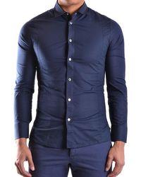 Dirk Bikkembergs Shirt Pt3113 - Blue