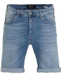 Replay Shorts Blue Ma981b..000.573 311 009
