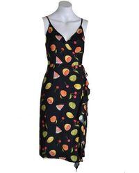 Rails - Dress Iris Strap Wrap Tropical Fruit Black - Lyst