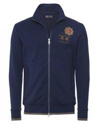 La Martina Zip-through Guards Polo Club Sweatshirt Colour: Navy - Blue