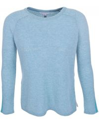 Duffy - Clothing Drop Back Jumper In Seaglass - Lyst