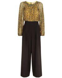Traffic People - Haughty Leopard Print Jumpsuit - Lyst
