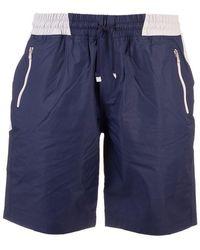 Brunello Cucinelli Men's Mm45a7414gci471 Blue Nylon Trunks