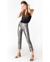 J Brand Ruby High Rise Galactic Silver - Metallic