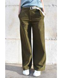 Suncoo - Jade Khaki Trousers - Lyst