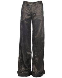 Dodo Bar Or Zoe Pant In Black & Gold Colour: Black/gold, Size: Uk