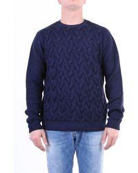 Jeordie's Knitwear Crewneck Men Blue