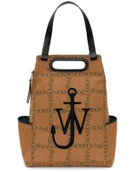 JW Anderson Anchor Logo-print Backpack - Brown