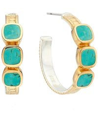 Anna Beck Turquoise -stone Hoop Earrings - Gold - Multicolour