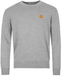 KENZO Sweater Tiger Crest - Dove Gray