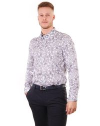 Ted Baker Mens Forsure Ls Paisley Printed Shirt - White