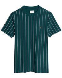 Farah Beatty Stripe T-shirt - Dark Teal - Green