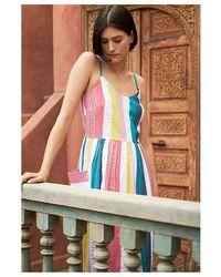 Emily and Fin Bree Summer Rainbow Stripe Dress - Multicolour