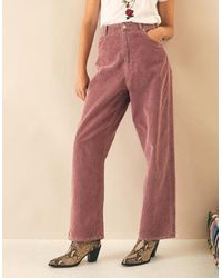 Leon & Harper Pandore Corduroy Trousers - Pink