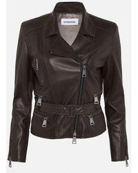 Sylvie Schimmel Brown Belted Leather Jacket