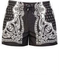 Dolce & Gabbana Bandana Swimshorts - Black