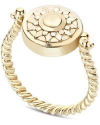 Coco & Kinney Harriet Spinning Ring In Gold - Blue