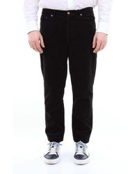 Saint Laurent Saint Laurent 5-pocket Jeans In Solid Colour - Black