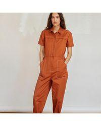 SIDELINE Lola Jumpsuit - Brown