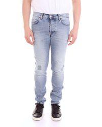 Aglini Men's Marke70blu Blue Cotton Jeans