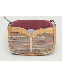 Sessun Divine Multi Leather And Textile Bag Elena - Grey