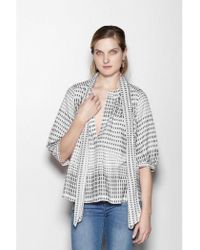 INTROPIA - Baby Doll Cotton Blouse - Lyst
