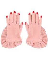 Vivetta Leather Gloves - Pink