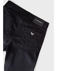 Emporio Armani J20 Stretch Denim Skinny Jeans - Black