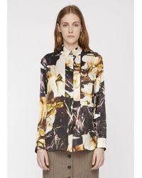 Paul Smith - Orchid Print Silk Shirt - Lyst