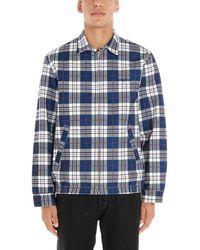 Noon Goons Men's Ngfw19007naywhitetartan Multicolour Polyester Jacket - Blue