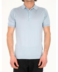 John Smedley Cotton Polo Shirt - Blue