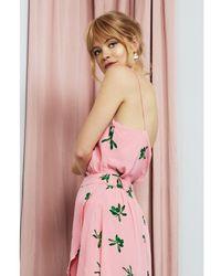 FABIENNE CHAPOT Lora Top Geranuim /green Olive - Pink