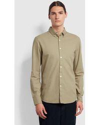 Farah Brewer Shirt - Beige - Brown