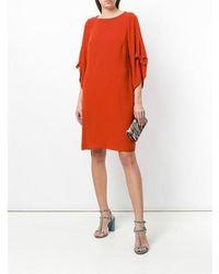 Luisa Cerano Shift Dress Red