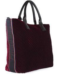 Pinko - Burgundy Velvet Ararat Large Shopper - Lyst