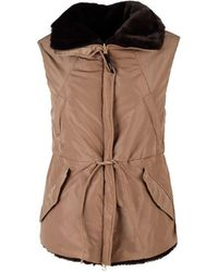 Aspesi Polyester Vest - Brown