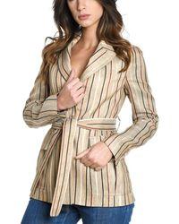 Eleventy Women's 980ja3091pan2702302 Beige Cotton Jacket - Brown