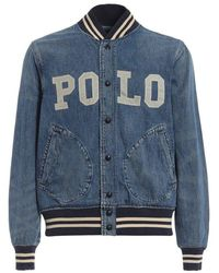 Ralph Lauren Menswear Varsity Denim Jacket - Blue